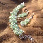 Faux Crystal Beaded Bracelet a...