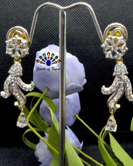 American Diamond (A.D.) Studded Drop Earrings For Women