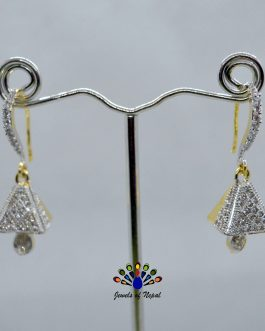 American Diamond (A.D.) Bell Fall Earrings For Women