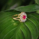 Faux Ruby Stone Embellished A....