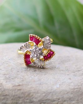 Faux Ruby With American Diamon...