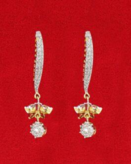 American Diamond Studded Drop Earrings For Women