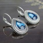 Aqua Blue Shiny Drop Lever-Bac...