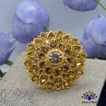 Golden Stone Studded Marigold ...
