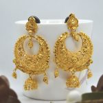 Gold Plated Pinjada Drop Ramleela Design Earrings For Women