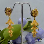 Gold Plated Stoned Peacock Des...