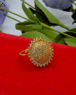 Gold Plated Flower Design Ston...