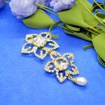 Flower Shaped Faux Moti Drop Hair Embellishment For Women