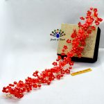 Red Faux Flower & Crystal ...