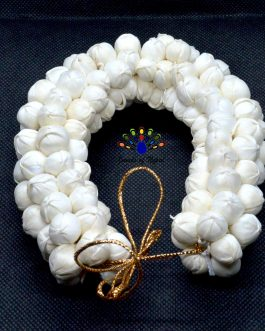 White Artificial Mogra Gajra Hair Embellishment For Women