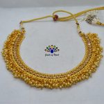 High Gold Faux Pearl & Sto...