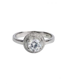 Silver Zircon Studded Pure Sil...