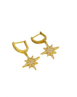 Gold Plated Stone Studded Star...