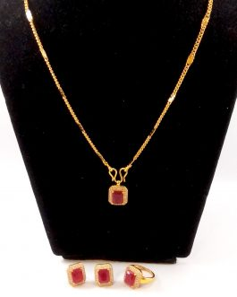 Gold Plated Stone Studded Jewe...