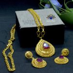 Gold Plated Drop Shaped Faux R...