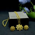 Gold Plated Flower Weave Desig...