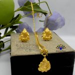 Gold Plated Ganesh Designed St...