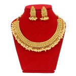 Faux Moti Beaded High Gold Nec...