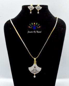 American Diamond Embellished Jewelry Set For Women