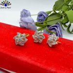 American Diamond Studded Flora...