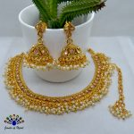 High Gold Faux Moti & Cz S...