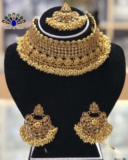 High Gold Plated Faux Moti &am...
