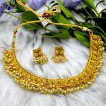 High Gold Faux Moti Beaded Adj...