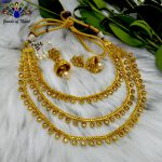 Kundan Stones Embellished 3 La...