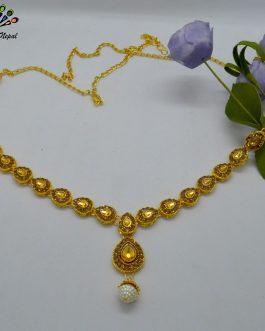 Golden Stones Studded Drop Des...