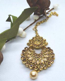 Golden Chandbali Designed Big ...