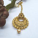 Golden Chandbali Designed Big Maangtika
