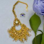 Golden/White Stone Embellished...