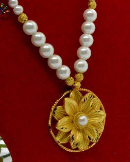 Gold Plated Round Flower Desig...