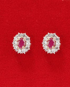American Diamond And Faux Ruby...