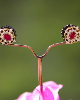 Faux Ruby Stone Floral A.D. (A...