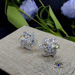 American Diamond Stone Embellished Floral Designed Ear Studs For Women