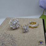 American Diamond Stone Embellished Detachable Floral Designed Ear Studs For Women