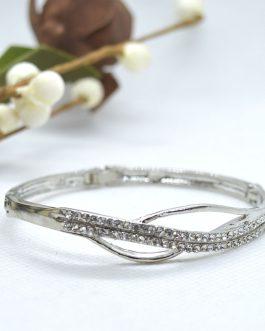 Silver Toned Stones Embellishe...