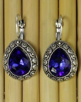 Blue Crystal Earrings For Wome...