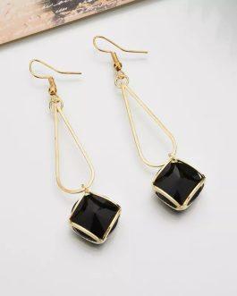 Faux Crystal Drop Earrings For...