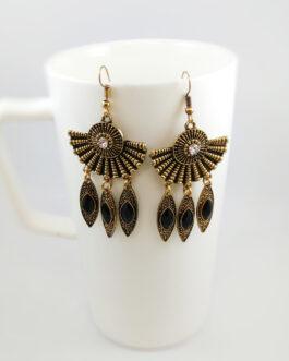Gold Toned/Black Tribal Design...