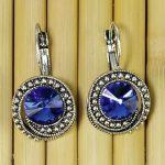 Blue Stoned Earrings For Women