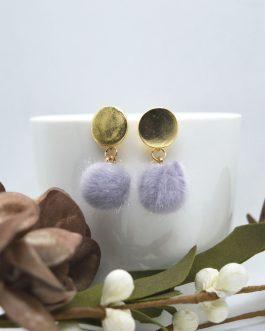 Golden Top Style Pom Drop Earr...