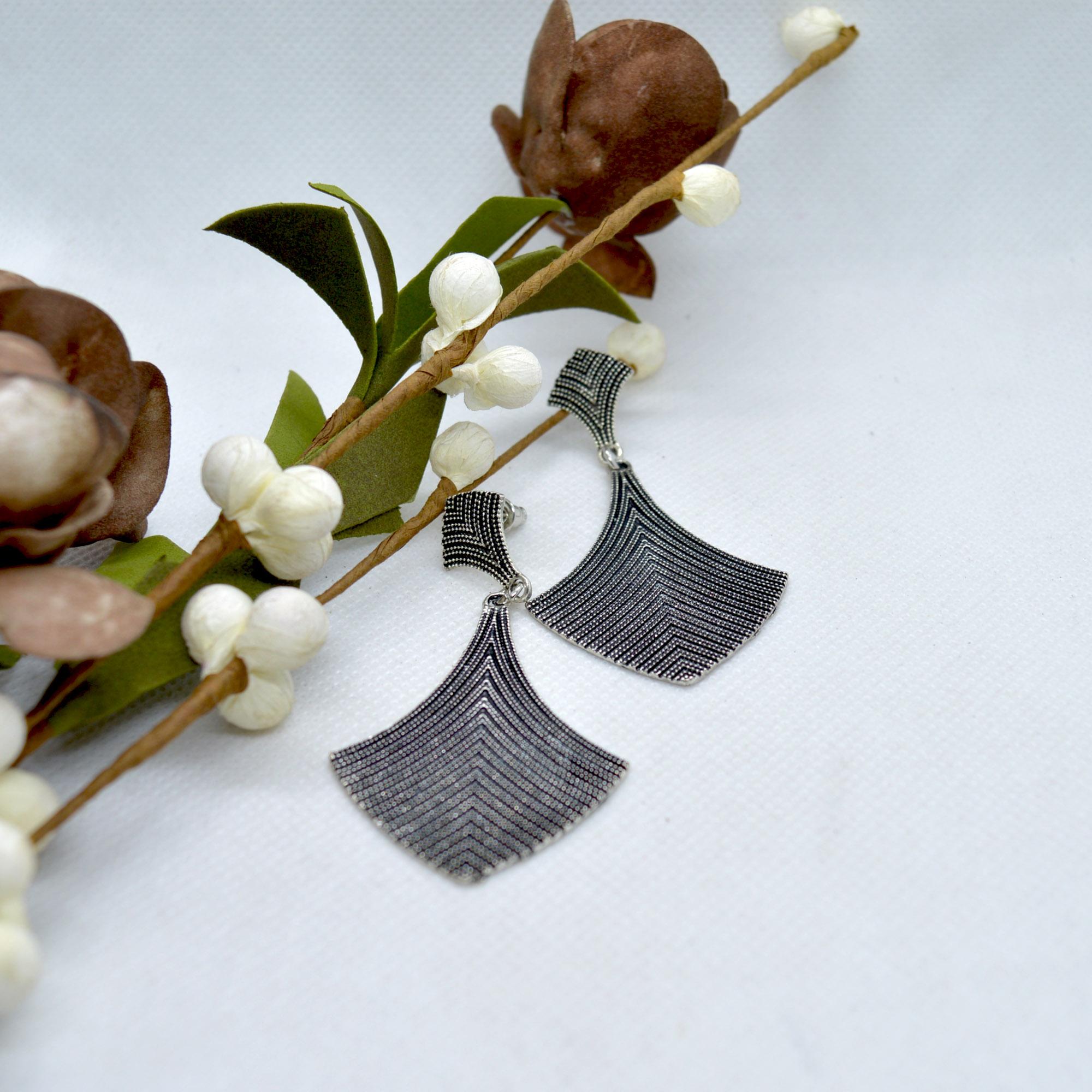 Metallic Dot Textured Earrings...