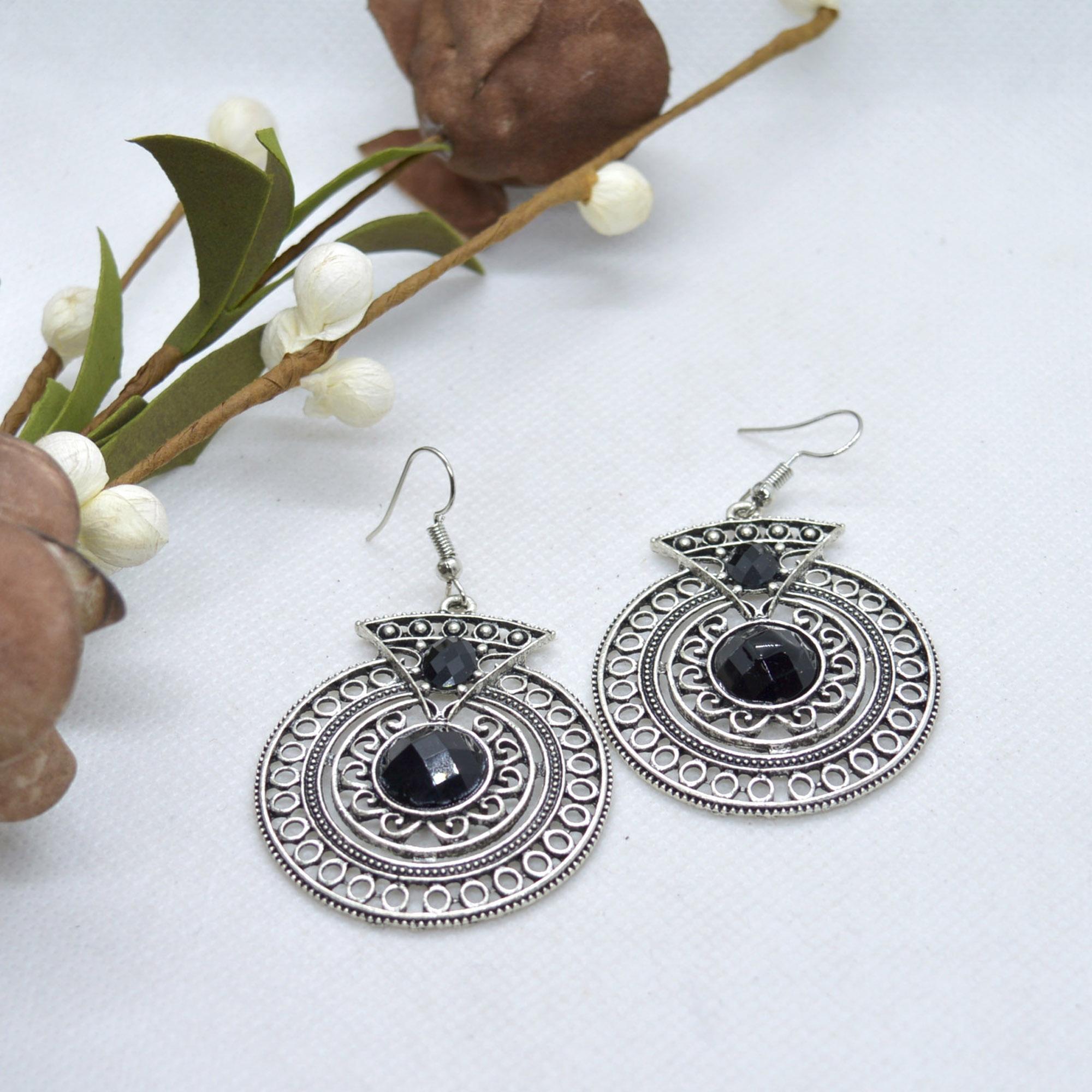 Silver Tibetan Style Stone Ado...