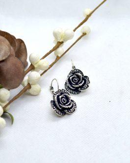 Silver/Black Flower Designed E...