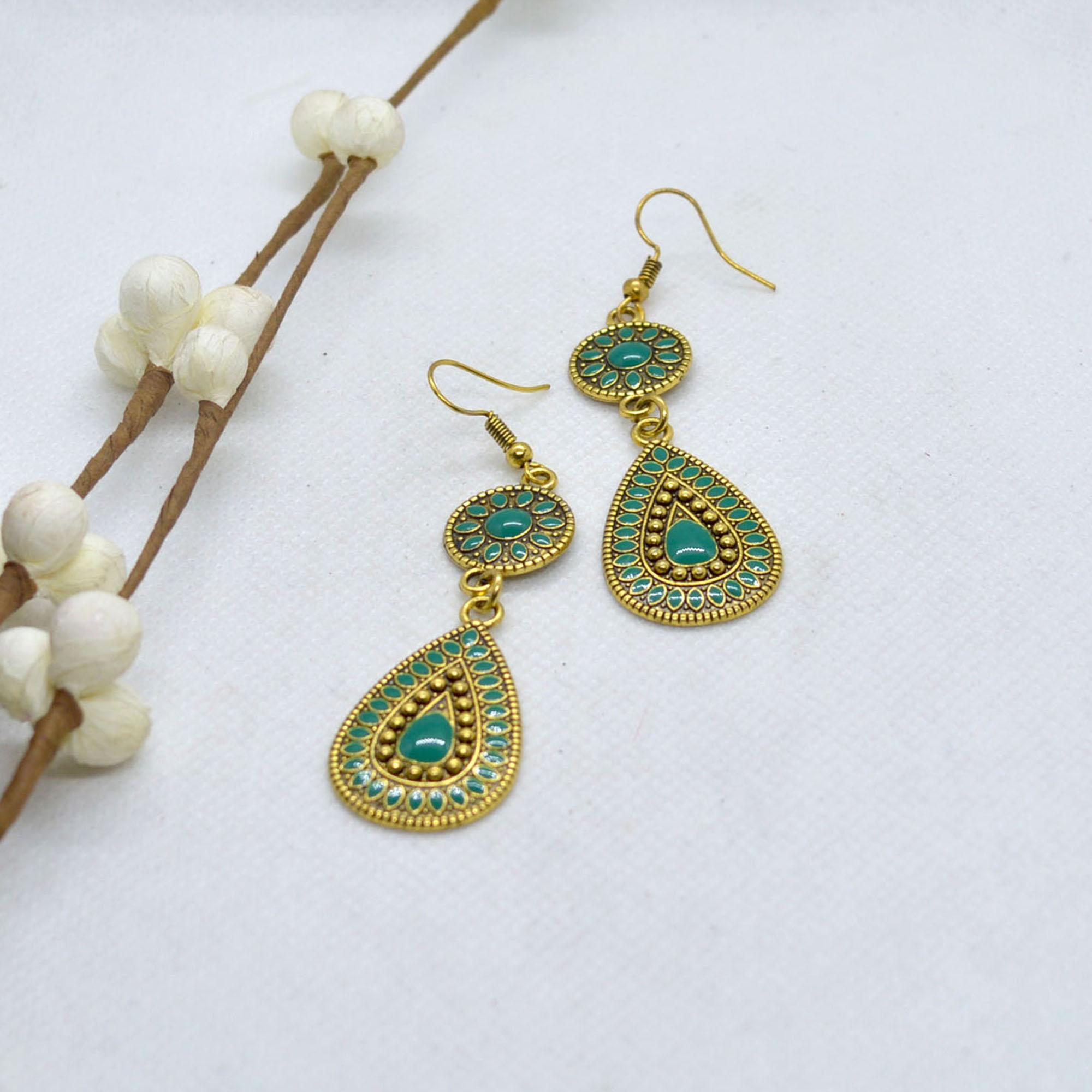 Tear Drop Design Drop Earrings...