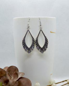 Silver/Black Stone Studded Dot...