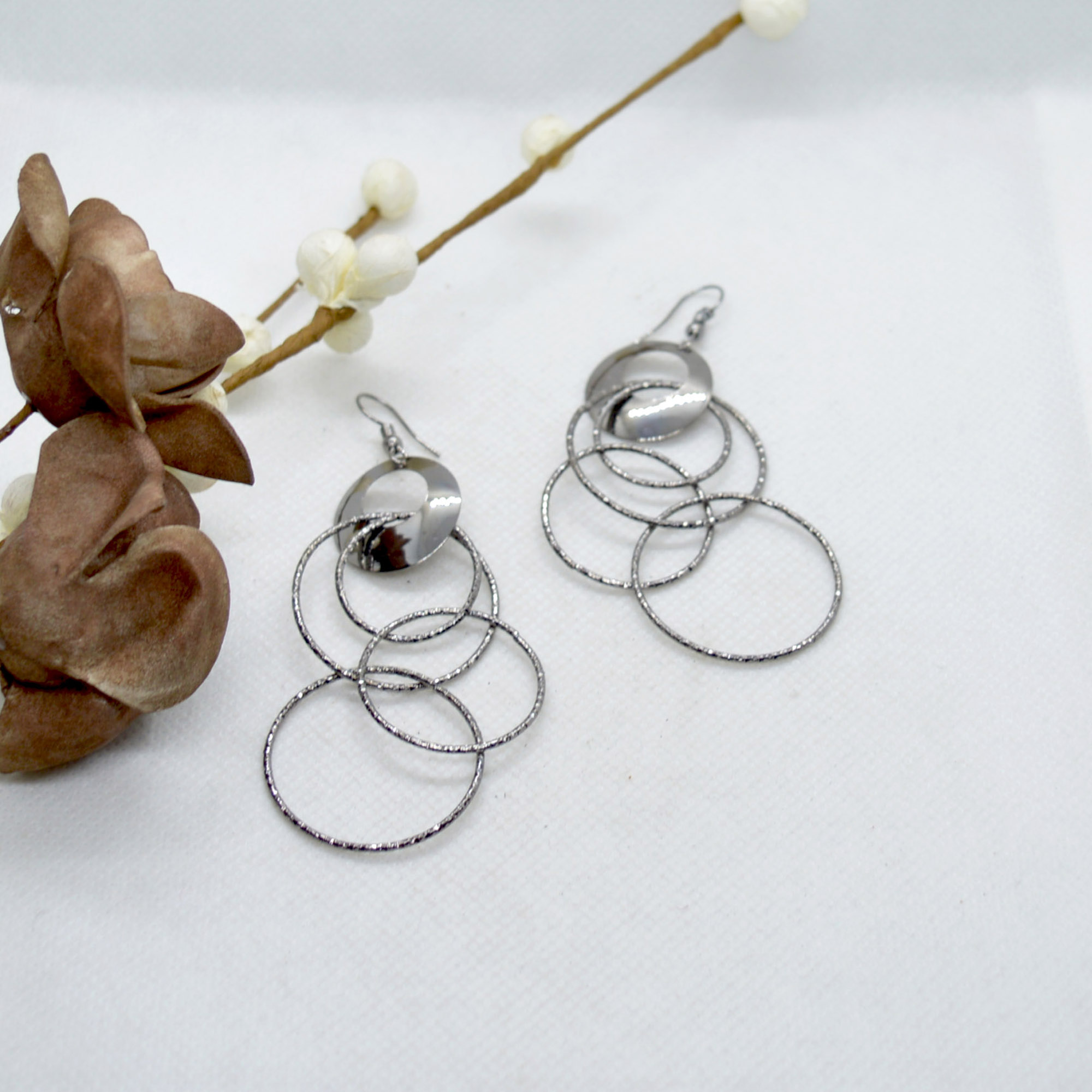 Round Loop Design Drop Earring...