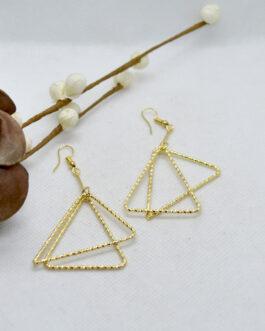 Golden Double Triangle Drop Ea...